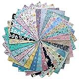 grannycrafts 30Stück 20x 25cm (20x 25cm) oben Baumwolle gedruckt Craft Stoff Bundle Squares Patchwork Fusseln Print Tuch Stoff Tissue DIY Nähen Scrapbooking Quilten floralem Mustern 20x25cm