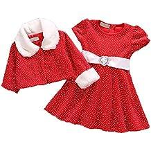 zilucky beb chicas navidad outfit vestir con capa navidad disfraz