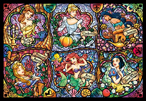 Tenyo Disney Brilliant Princess Stained Glass Gyutto Size Series Jigsaw Puzzle (500 Piece) (Duck Art Glass)