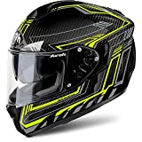 Airoh Integral casco moto casco St 701 Safety Full Carbon Yellow XXL