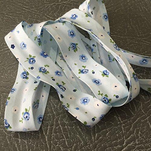 2321colore blu con motivi alta qualità Bias Binding 25mm largo 100% cotone con Nice Soft Feel-venduto al metro
