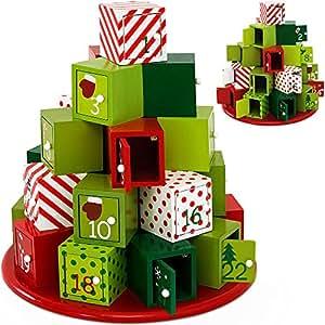SSITG Adventskalender selbst befüllen Holz Weihnachtskalender Weihnachten Kalender (Lieferzeit ist 3-7 Tagen)