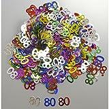Tabella 80 anni coriandoli multicolori (14 g)