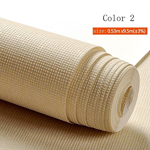 Sechs Arten von optionalen Tapeten modernen einfachen einfarbigen Vliestapete Wohnzimmer Schlafzimmer TV Hintergrund Wanddekoration (Color : Color 2)