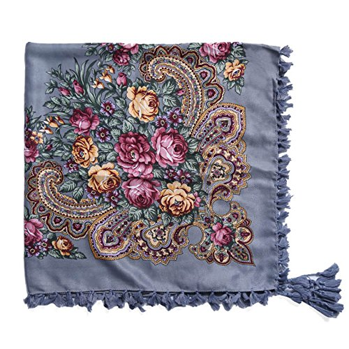 New Fashion Woman Scarf Square scarves short Tassel Floral printed Women Wraps Winter lady shawls