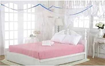 Shahji Creation Double Bed Mosquito Net, Multi Color (6X6 Feet)