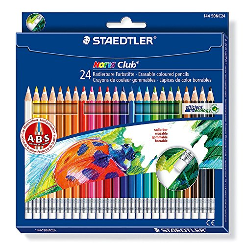 Staedtler 144 50NC24 - Noris Club radierbarer Farbstift, 24 Stück Etui