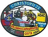 Christoph 23 Koblenz 40 jahre Luftrettung BW ADAC Hubschrauber Helikopter Aufnäher Abzeichen
