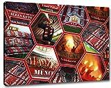 Ultras Schickeria München Collage Format: 80x60, Bild auf Leinwand XL, fertig gerahmt