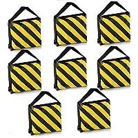 Neewer 8Pack doble mango bolsa, Negro/Amarillo Bolsa de sillín para fotografía Studio Vídeo etapa película luz Stands Boom brazos trípodes