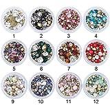 coulorbuttons 3,5G Sharp Bottom Rhinestone 3d decoración de uñas colorida multi-size Manicura Uñas Decoración DIY cristal materiales