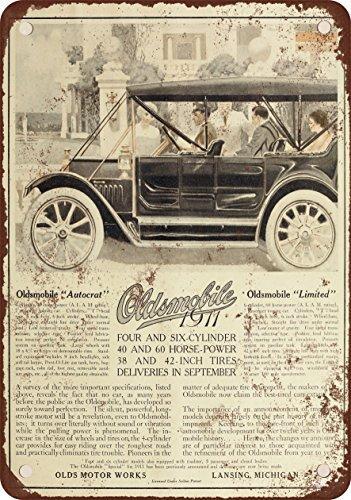 1911-oldsmobile-aspecto-vintage-reproduccion-metal-tin-sign-8-x-12-pulgadas