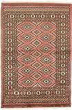 CarpetFine: Pakistan Buchara 2ply Teppich 119x181 Braun,Pink - Handgeknüpft - Ornament