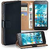 MoEx Huawei G510 | Hülle Schwarz mit Karten-Fach [OneFlow 360° Book Klapp-Hülle] Handytasche Kunst-Leder Handyhülle für Huawei Ascend G510 Case Flip Cover Schutzhülle Tasche