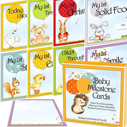 Baby Milestone Karten & Andenken Box 28Cute bebilderte Landmark Moments Foto Karten Ideal für Baby-Dusche Geschenk oder Baby Geschenk (Themed Halloween Aufnahmen)