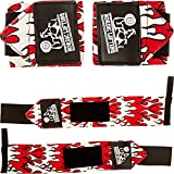 Wrist Wraps (1 Pair/2 Wraps) for Weightlifting/Crossfit/Powerlifting - For Women & Men - Premium Quality Equipment & Accessories for the Absolutely Best Hand Strength & Support Possible - Guard & Brace Your Wrists With this Gear to Avoid Injury During Weight Lifting - 1 Year Warranty