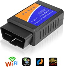 Vegkey OBD2 Diagnosegerät, Kabellos Auto Wifi Diagnose Scanner OBDII Codeleser OBD2 Stecker Codeleser Prüfen Motor Fehlercodes Can Bus Interface Kompatibel mit iOS, Android & Windows für Autos