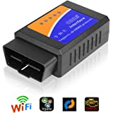 Vegkey OBD2 Diagnosegerät, Kabellos Auto Wifi Diagnose Scanner OBDII Codeleser OBD2 Stecker Codeleser Prüfen Motor Fehlercodes Can Bus Interface Kompatibel mit iOS, Android & Windows für Autos
