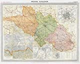 Historische Karte: Provinz SCHLESIEN im Deutschen Reich - um 1910 [gerollt]: Carl Flemmings Generalkarte, No. 8. Regierungsbezirke Liegnitz, Oppeln, ... Breslau. Fürstenstein und Salzbrunn -
