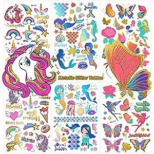 Tatuajes Temporales de Purpurina Metálica