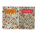 Pennine Tasche Blumen Sudoku Herausforderungsbücher - Buch 1 & 2, jedes enthält 130 Seiten