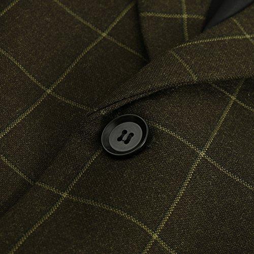 Hanayome - Veste de costume - Parka - Col Chemise Classique - Manches Longues - 100 DEN - Homme green