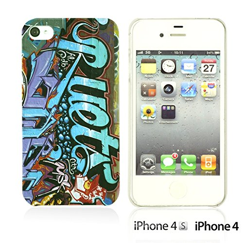 OBiDi - Art Paintings Hardback Case / Housse pour Apple iPhone 4S / Apple iPhone 4 - Vintage European Painting Graffiti