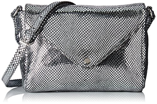 Petite MendigoteFlo - Borsa a tracolla Donna , argento (Argent (Argent (Silver))), 5x13x20 cm (W x H x L)