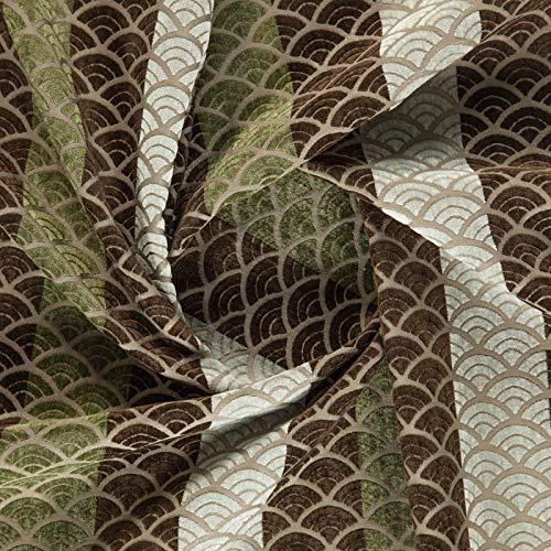 Crawford Muster (Crawford 004-50% Polyester, 44% Acryl, 6% Viskose, geometrisch, Braun)