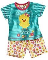 Lullaby Toddler Girls Cute Chick Striped Shortie Summer Pyjamas
