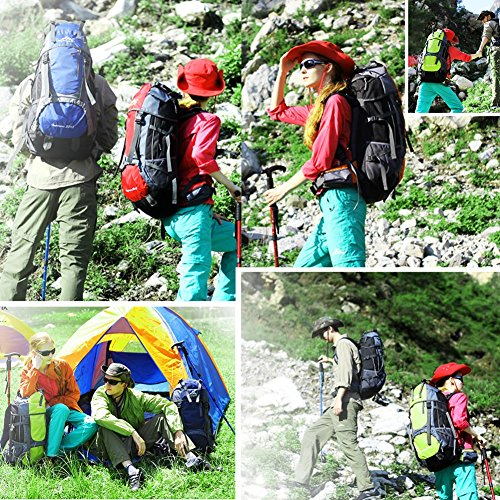 Imagen de vbiger  impermeable 65+5l per alpinista senderismo viajes verde  alternativa