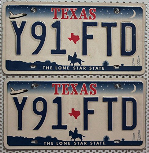 US Nummernschilder TEXAS Kennzeichen PAAR # Autoschilder USA # License Plates Pair