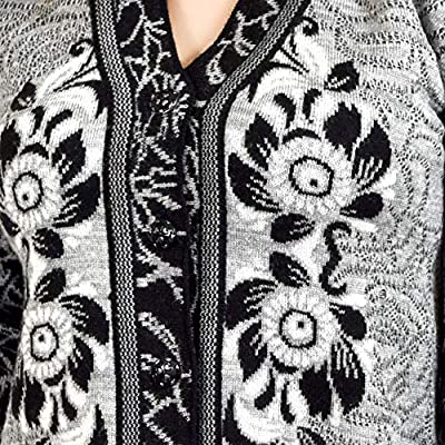 Shree Mark Womens/Ladies / Girls Woolen Full Sleeve Winter Wear Buttoned Cardigan and Womens/Ladies / Girls Woolen Full Sleeve Sweater(Type-Women Woollen Cardigan;Size- Large)