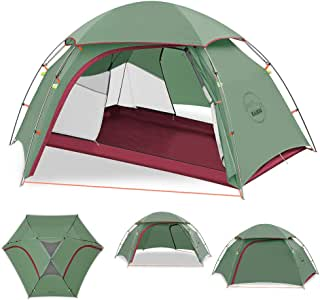 KAZOO Camping Lightweight tent Waterproof Backpack outdoor hiking tent 2 person Traveling Backpacking tent Easy Setup, 3 Aluminum Poles Double