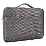 DOMISO 14 Pouces Imperméable Housse Sac de Protection Ordinateur Portable Sacoche pour Ultrabook/Netbook/Chromebook/Apple/HP 14/Lenovo Yoga 520 Ideapad/ASUS/Acer, Gris Argenté
