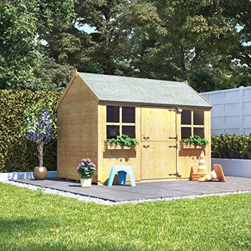BillyOh 6x4 Gingerbread Junior Children Wooden Playhouse Outdoor Garden - Premium 6ftx4ft