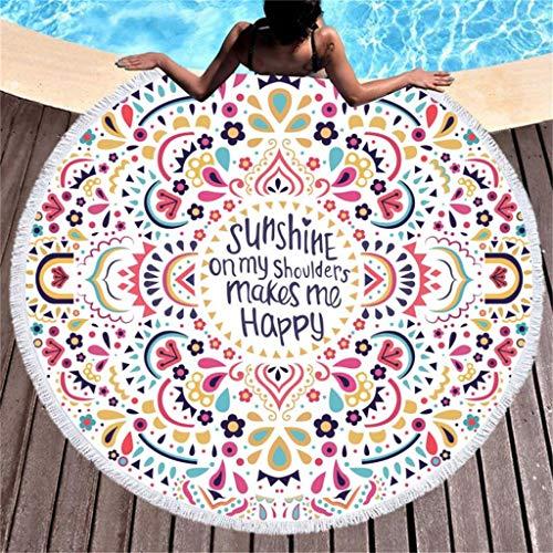 Rokoy Piccolo Telo Piscina, Telo Mare Stampato Cottage, Tappetino Spiaggia Yoga, Microfibra Modello Disco, Facile da Pulire, Massima Morbidezza E Assorbimento d'Acqua