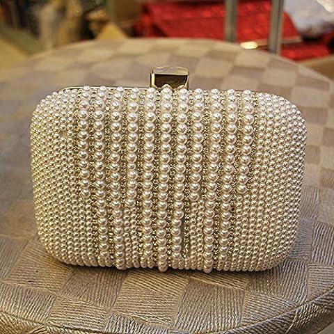 Perla strass moda Borsa serale della frizione versatile borsa tote bag dimensioni: 16*11*5cm
