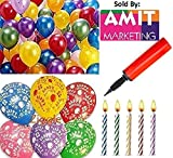 metallic hd large balloons +happy birthd...