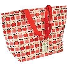 dotcomgiftshop 26582 Shopper groß als Einkaufstasche Vintage Apple
