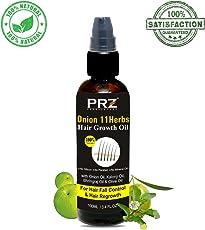 PRZ Unisex 11 Onion Herbs Hair Growth Oil (100ml)