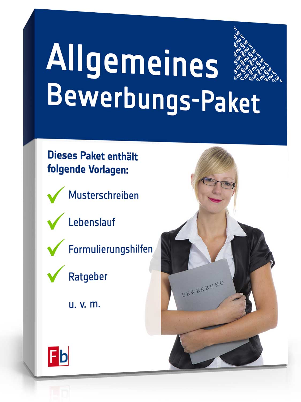 Bewerbungs-Paket Allgemein [Zip Ordner] [Download]