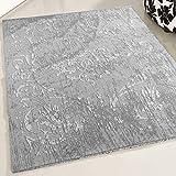mynes Home Teppich Designer Kelim Kilim in Grau in versch. Größen Rutschfest waschbar für Bad Flur Küche Badteppich (80cm x 150cm)