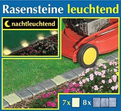 WENKO 2,5 m Rasensteine leuchtend Beeteinfassung Rasenkante von WENKO - Lampenhans.de