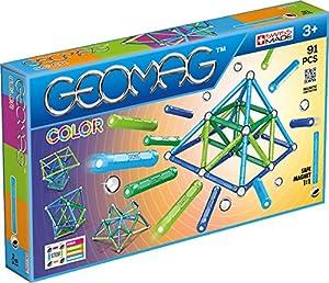 Geomag- Classic Color Construcciones magnéticas y Juegos educativos,, 91 Piezas (263)
