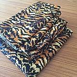 Británica Choice lino Juego de sábana 4Pcs Nuevo Gran Calidad de impresión animal tigre Tamaño Super King (35cm) gota Fit colchón 650-thread-count satén