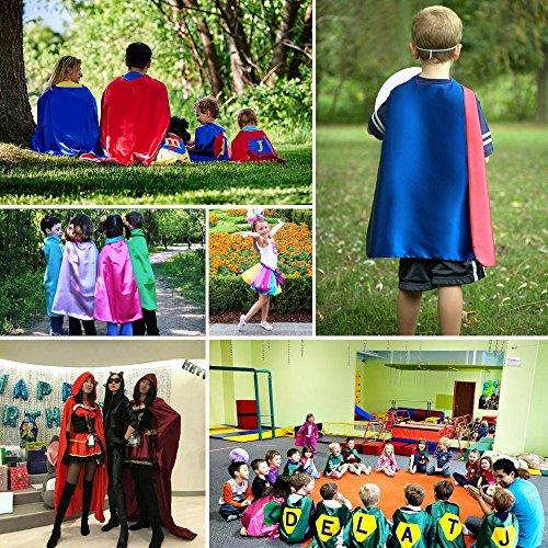 Imagen de 10 pack a granel adultos capas y máscaras de superhéroes disfraces para hombres y mujeres disfraz de fiesta 140cm  alternativa