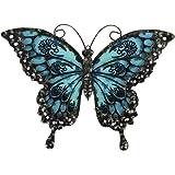 Liffy décoration Murale Papillon en métal extérieur Art Mural intérieur en métal Papillon Suspendu décoration métal et Verre