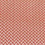 Hamburger Liebe This Summer Corn Row Knit Knit Col. 5 Weiß Beige Orange Rot - Jacquard Jersey Biostoff Biojersey - 135cm breit - 50cm je Einheit
