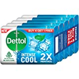 Dettol Cool Germ Protection Bathing Soap bar, 125gm (Pack of 5)